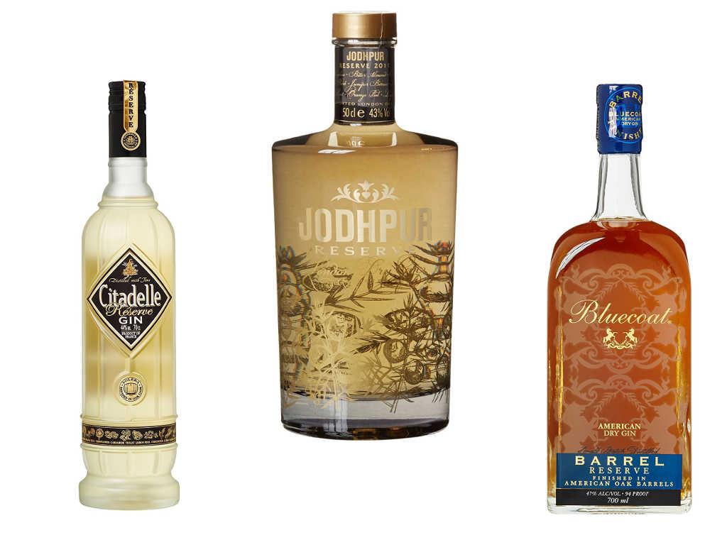 Beispiele für Reserve Gin: Citadelle, Jodhpur & Bluecoat Barrel Reserve Gin