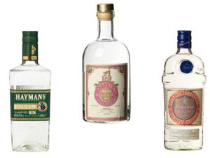 Beispiele für Old Tom Gin: Haymans, Both's  & Tanqueray Gin &